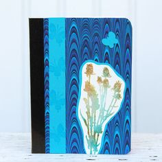 Blue Marbled Mini Journal Pocket Notebook with by CarolaBartz