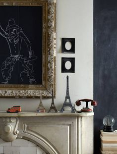 I want to make this framed chalkboard.  Such a great idea.