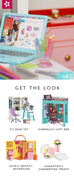 dolls Shop this look! American Girl Doll Room, American Girl House, American Girl Parties, American Girl Crafts, American Girls, Og Dolls, Girl Dolls, Baby Dolls, Ag Doll Crafts