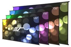 Elite Screens DIY Wall Indoor Outdoor Portable Projector screen PVC Ultra HD Movie Theater Cinema Projection Screen, Roll-Up Hang Anywhere, Outdoor Projector Screen Diy, Diy Projection Screen, Portable Projector Screen, Outdoor Screens, Home Theater Setup, Home Theater Seating, Home Theater Projectors, Diy Wall, Indoor Outdoor