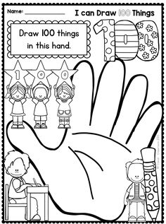 Free Printable 100 Days Of School Coloring Pages - Free Coloring Sheets 100 Days Of School Centers, 100th Day Of School Crafts, 100s Day, Holiday Writing, 100 Day Celebration, Hundred Days, Teaching Colors, Teaching Ideas, School Coloring Pages