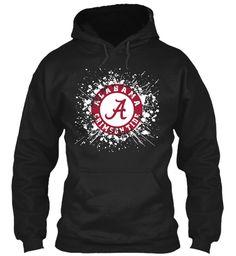 Alabama Football Game Day  Shirts Black Sweatshirt Front