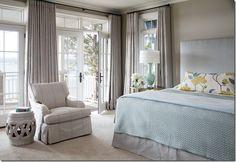 Sherwin-Williams Loggia Pretty Bedroom, Dream Bedroom, Home Bedroom, Master Bedroom, Bedroom Balcony, Decor Room, Bedroom Decor, Home Decor, Bleu Pale