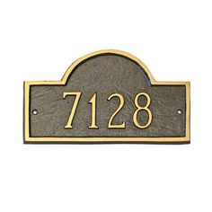Montague Metal Products Classic Arch Standard Address Plaque Finish: Black / Silver, Mounting: Lawn
