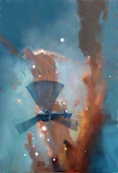 John Harris - Trillion 2 - Oils on canvas on board - 2011 - 16 x 21 inches (42 x 53 cms)