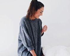 oversize large grey sweater
