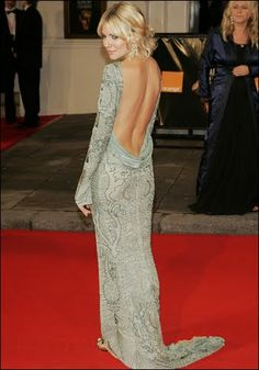 Sienna Miller in Valentino backless gown