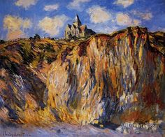 Claude Monet The Church At Varengeville, Morning Effect oil painting reproductions for sale