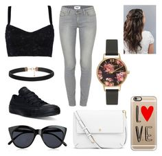 """""""I love you and thats all I really know"""" by aim-fire ❤ liked on Polyvore featuring Dolce&Gabbana, Paige Denim, Converse, Le Specs, Tory Burch, Casetify, Olivia Burton, women's clothing, women and female"""