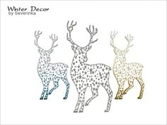 Outdoor light in the form of a Christmas deer Found in TSR Category 'Sims 4 Outdoor Lighting'