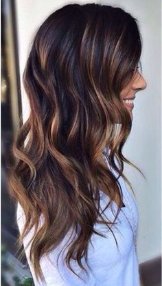 Trendy Hair Highlights : Dark brunette base with rooted hand painted bayalage… Hair Color Balayage, Ombre Hair, Balayage Hairstyle, Bayalage Dark Hair, Balayage Brunette Long, Brown Hair With Caramel Highlights Dark, Bayalage Caramel, Highlights For Brunettes, Hair Ideas For Brunettes
