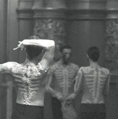 Costume design by Riccardo Tisci, Givenchy's creative director, for a ballet of Maurice Ravel's 17-minute composition Bolero, based on the Spanish dance, a collaboration between Marina Abramovic and Belgian choreographers, Sidi Larbi Cherkaoui and Damien Jalet; photographed for Dazed & Confused July 2013