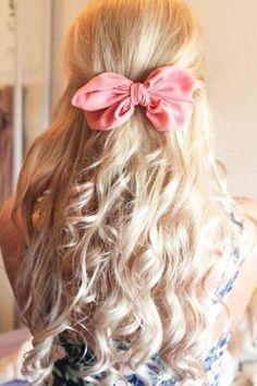 Pretty bow, pretty blonde curls #prettycurls
