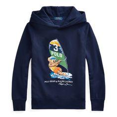 $65.0. POLO RALPH LAUREN Top Windsurf Bear Fleece Hoodie #poloralphlauren #top #hoodie #cotton #clothing Ralph Lauren Hoodie, Polo Ralph Lauren, Beach Gear, Page Boy, Fleece Hoodie, Hoodies, Sweatshirts, Boy Outfits, Bear