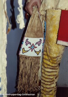 Blackfoot pipe bag from the old mannequin display at NMNH.  ac