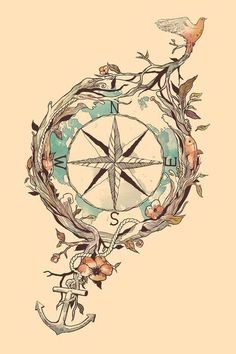 Pretty much covers all aspects I want in my next tattoo (or several) Compass, Anchor, Swallow