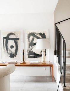 Black and white abstract art: a history lesson {Franz Kline inspired} — The Decorista