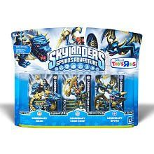 Skylanders Spyros Adventure Mini Figure Character 3Pack Legendaries Spyro Legendary, Chop Chop Legendary BashLegendary