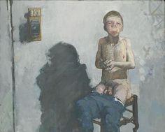 Autoportrait avec le le comptoir eectrique - Jean Rustin in Het Dolhuys