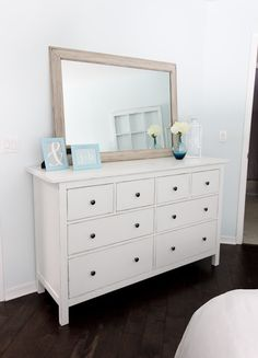 Dresser from ikea usa fab gallery wall we love how the for Mirrors ikea usa