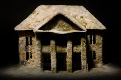 daniele del nero - after effects - photograph - mouldy architecture model with…