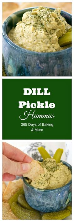 Dill Pickle Hummus is the perfect way to satisfy your craving. Chickpeas, dill p. Dill Pickle Hummus is the perfect way to satisfy your craving. Chickpeas, dill pickles, and tahini make this a healthy snack you& have trouble sharing. Appetizer Dips, Appetizer Recipes, Snack Recipes, Dessert Recipes, Whole Food Recipes, Vegan Recipes, Cooking Recipes, Dill Recipes, Recipies