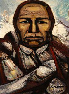 David Alfaro Siqueiros (Mexican 1896-1974), El Trabajador Piedra, pyroxiline on panel