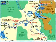 grand lake colorado | Grand Lake Map, Activities, CO, Colorado Vacation Directory