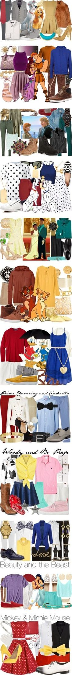 Couple's Fashion by fabulousgurl on Polyvore featuring MANGO MAN, Cheap Monday, Pence, TheP., Lands' End, Gieves & Hawkes, Ileana Makri, Converse, Kenneth Jay Lane and disneybound