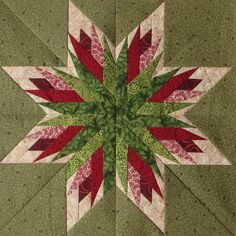 Carol Doak Art Quilts More Could be paper piecing See related image detail Paper Pieced Quilt Patterns, Christmas Quilt Patterns, Quilt Block Patterns, Pattern Blocks, Pattern Paper, Christmas Quilting, Christmas Star, Lone Star Quilt, Star Quilt Blocks