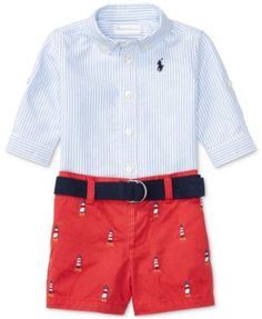 Ralph Lauren Oxford Shirt   Twill Shorts Set, Baby Boys (0-24 months) Kids  - Sets   Outfits - Macy s fff1b2623419