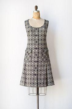 vintage 1960s grey Pendleton wool scooter dress
