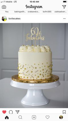 When I turn I want a fabulous cake too! ♀️ I love being able to celebrate such special milestones with each of yo Modern Birthday Cakes, 65 Birthday Cake, Bithday Cake, Happy Birthday, Birthday Cake For Women Simple, Bolos Naked Cake, 50th Cake, Wedding Anniversary Cakes, Mom Cake