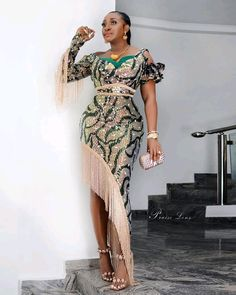49 Super Stylish Ankara Gown Styles For African Fashion 2020 Nigerian Lace Styles, Aso Ebi Lace Styles, Nigerian Dress, Lace Gown Styles, African Lace Styles, Latest Aso Ebi Styles, African Fashion Ankara, Latest African Fashion Dresses, African Dresses For Women