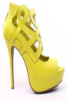 LIME FAUX LEATHER CUTOUT OPEN TOE PLATFORM BOOTIE HEELS,$30.99 #summer #summercollection #cute #fun #2014 #summertime #summerfling #summerfun #2014summer #summerbreak #summerfun #funinthesun #fashionworld #worldoffashion #wanderable #fashionstyle  #pumps #heelsfashion #shoes #heelshoes #highheelshoes #highheels #sexyheels #heelbooties #bootieheels