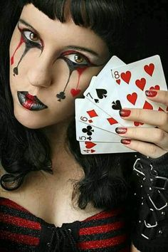 Goth Gothic face art cards