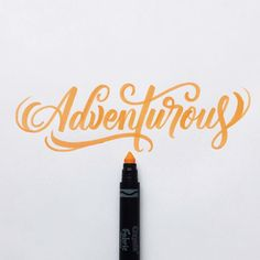 Be willing to take risks. Stay adventurous. #crayoligraphy                                                                                                                                                                                 More