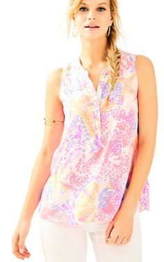 Kery Silk Top In Bohemian Beach: $128