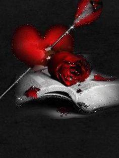 Серце и роза на книге