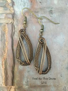 Copper Wire Weave Earrings by Traebetruedesign on Etsy