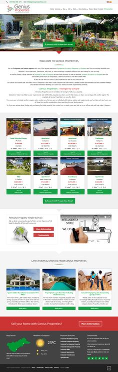 Genius Properties are Estepona real estate agents with one of the largest selections of properties for sale in Estepona, La Duquesa and the surrounding Marbella area. Real Estate Software, Estate Agents, Portfolio Website, Property For Sale, Duke