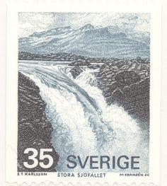 """Sweden 35ö """"The Great Fallls"""" 1974. Majvor Franzén sc."""