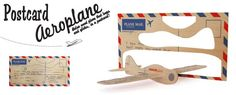 Things for Less than $20 that Can Make Flying Suck Less A great retro gift you can send through the mail, make your own plywood aeroplane, designed by Mat Lyon for SUCK UK