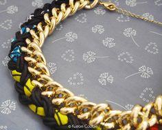 DIY collier bi-matière wax et chaînes - 10 bijoux à faire soi-même pour l'été - Once a DIY