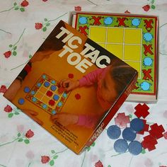Tic Tac Toe Noughts And Crosses Vintage Game by WelshGoatVintage