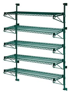 21 Deep x 54 Wide x 54 High Adjustable 5 Tier Freezer Wall Mount Shelving Kit >>> More info could be found at the image url.-It is an affiliate link to Amazon. #FloatingShelves