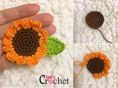 Mini Sunflower Crochet Free Pattern