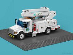 Lego City, Lego Truck, Toy Trucks, Lego Design, Lego Bucket, Construction Lego, Utility Truck, Lego Pictures, Lego Mecha