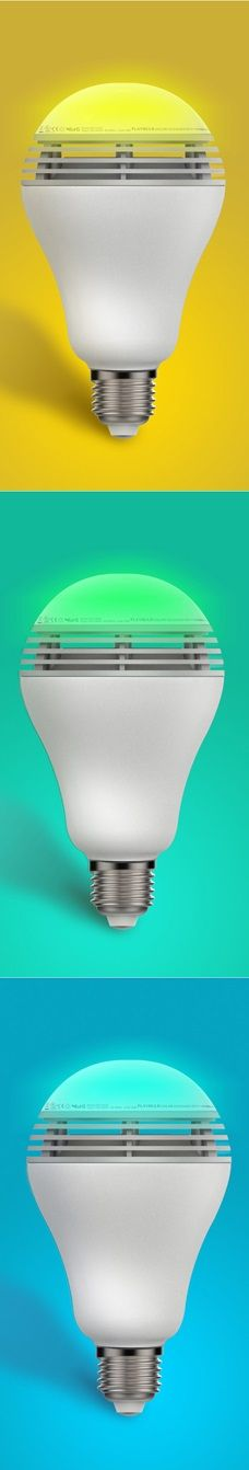 Add color and music to your home with the MiPow PlayBulb Color, the smart light bulb that's a speaker as well. | For more pins on Audio Gadgets and Other Electronics, follow Best Buy Portable Speakers