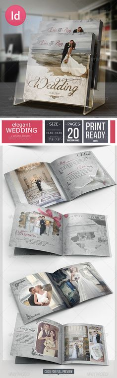 20 Pages Elegant Wedding Photo Album